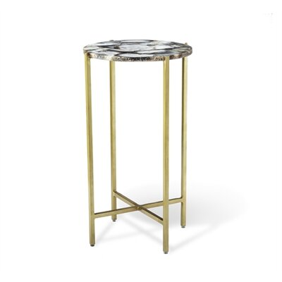 Leonie Agate Round End Table
