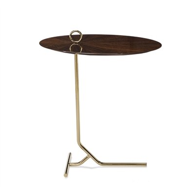 Claude Martini End Table Table Top Color: Eucalyptus
