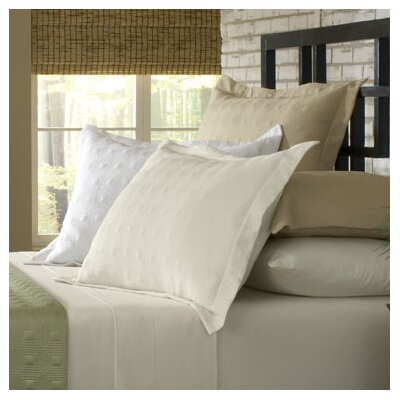Rayon from Bamboo Quilted Sham Color: Taupe, Size: King