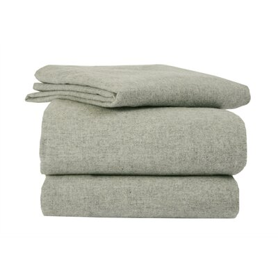 Heather Flannel Sheet Set Size: King, Color: Sage