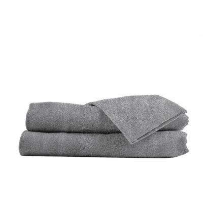 Heather Flannel Sheet Set in Gray Size: King