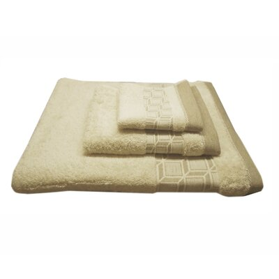 Jacquard Blocks 3 Piece Towel Set