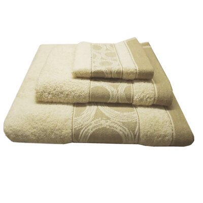 Jacquard Circle 3 Piece Towel Set