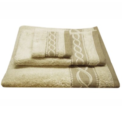 Jacquard Rope 3 Piece Towel Set