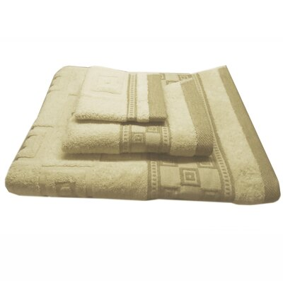 Jacquard Squares 3 Piece Towel Set