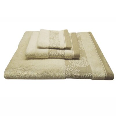 Jacquard Daisy 3 Piece Towel Set