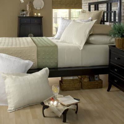 Standard Bamboo Rayon Quilted Reversible Coverlet Color: Dove White / Champagne, Size: Full / Queen