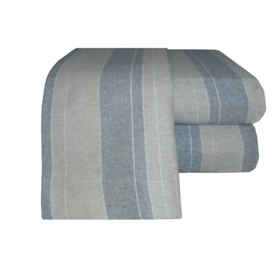 Flannel Stripe Sheet Set in Gray Size: Full