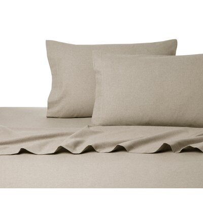 Heather Flannel Sheet Set Size: King, Color: Tan