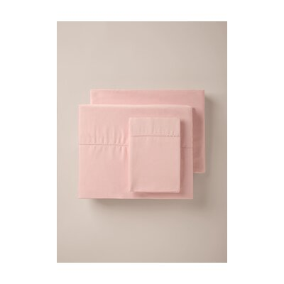 420 Thread Count Pillowcase Color: Blush, Size: Standard