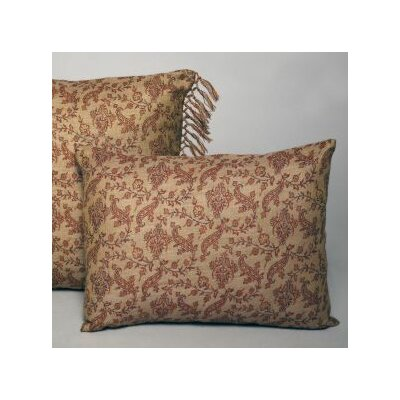 Vine Floral Decorative Wool Lumbar Pillow