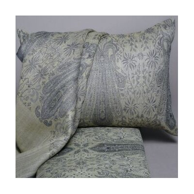 Floral Paisley Decorative Wool Lumbar Pillow