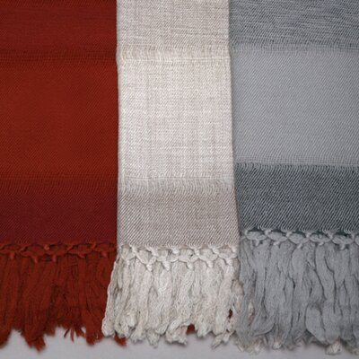 Missing Weave Merino Wool Throw Color: Oatmeal / Taupe