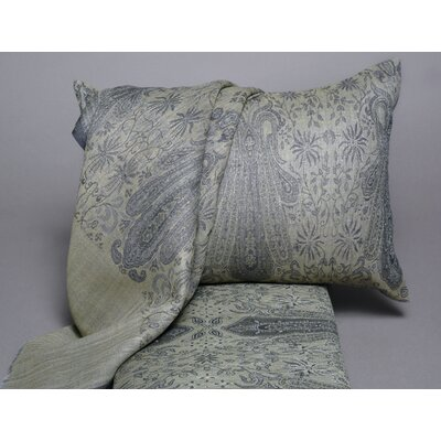Floral Paisley Wool Lumbar Pillow