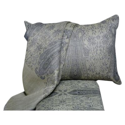 Floral Paisley Wool Duvet Cover Size: Queen