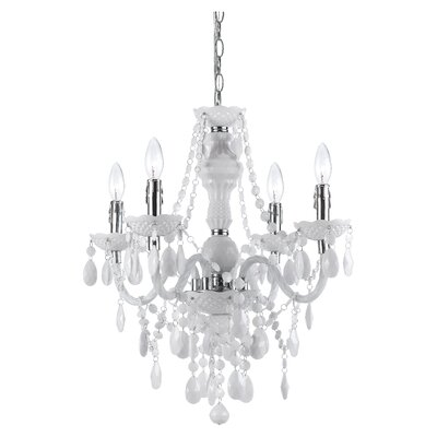 Geoffroy 4-Light Chandelier Finish: White