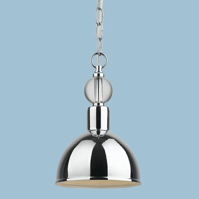 Hollace 1-Light Inverted Pendant Size: 12 H x 7 W x 7 D