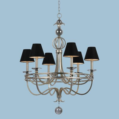 Cirque 6-Light Shaded Chandelier
