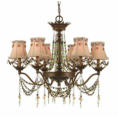 Tiara Elements 6-Light Shaded Chandelier