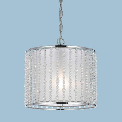 Bijou 1-Light Drum Pendant Crystal Color: Clear