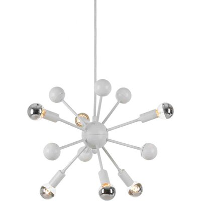 6-Light Satellite Pendant Finish: White