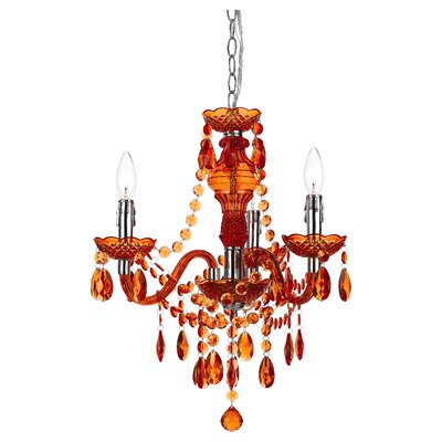 Creeves 3-Light Mini Chandelier Color: Orange