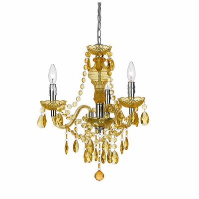 Fulton 3-Light Mini Chandelier Color: Gold