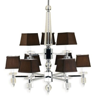 Cluny 9-Light Shaded Chandelier Shade Color: Chocolate