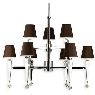 Margo 9-Light Shaded Chandelier Shade Color: Chocolate