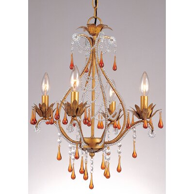 Josephine 4-Light Crystal Chandelier