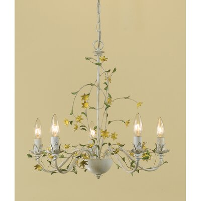 Larkins Star Flower 5-Light Candle-Style Chandelier