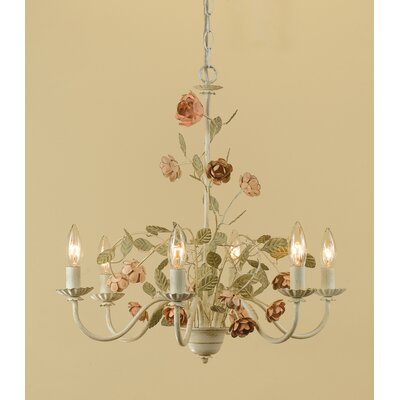 Ramblin Rose 6-Light Candle-Style Chandelier