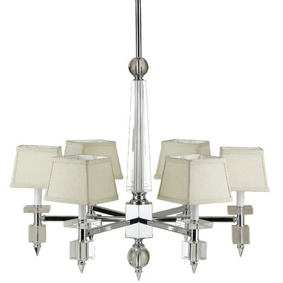 Cluny 6-Light Shaded Chandelier Shade: Yes