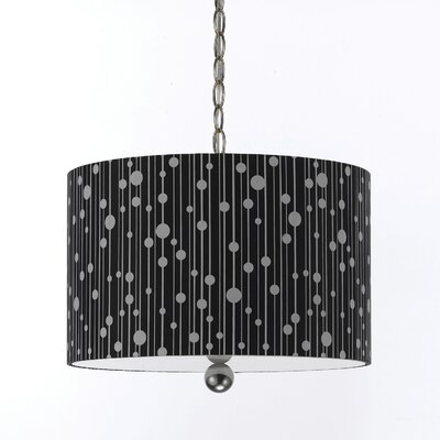 Drizzle 3-Light Drum Pendant Shade color: Black