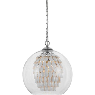Schueler 1-Light Crystal Pendant Color: White