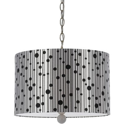 Drizzle 3-Light Drum Pendant Shade color: Silver