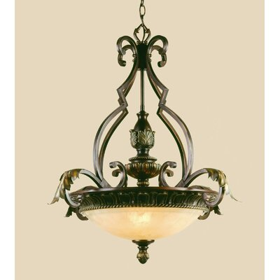Provencal Elements 3-Light Bowl Pendant