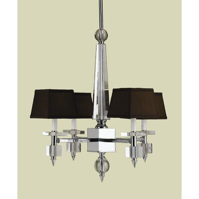 Cluny 4-Light Shaded Chandelier Shade Color: Chocolate