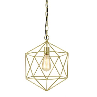 Todd 1-Light Geometric Pendant Finish: Brushed Gold