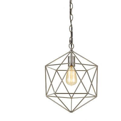 Todd 1-Light Geometric Pendant Finish: Brushed Nickel