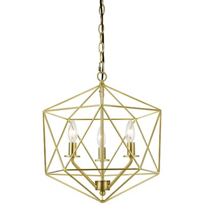 Todd 3-Light Mini Chandelier Finish: Brushed Gold
