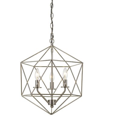 Todd 3-Light Mini Chandelier Finish: Brushed Nickel