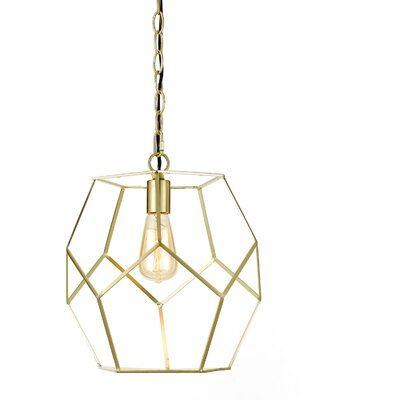 Todd Modern 1-Light Geometric Pendant Finish: Brushed Gold