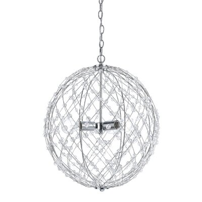 Silver Web Horizons 3-Light Globe Pendant