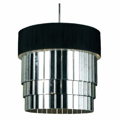 Garbo 6-Light Drum Pendant Shade Color: Black