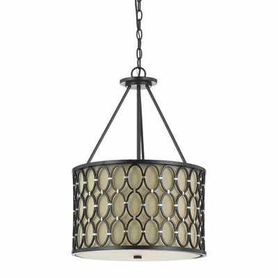 Cosmo 3-Light Drum Pendant Finish: Oil Rubbed Bronze