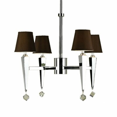 Bowermans 4-Light Shaded Chandelier