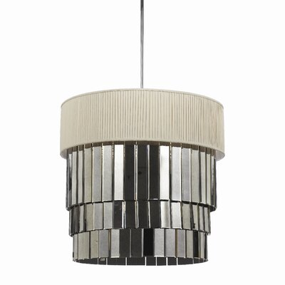 Garbo 6-Light Drum Pendant Shade Color: Cream