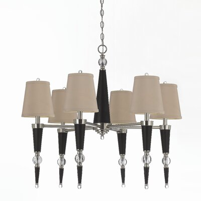 Hollace 6-Light Shaded Chandelier
