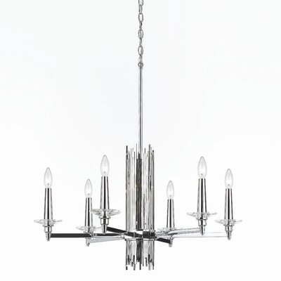 Trevor 6-Light Candle-Style Chandelier